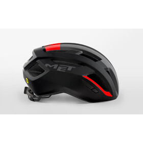 MET Vinci MIPS Casco, black/red matte